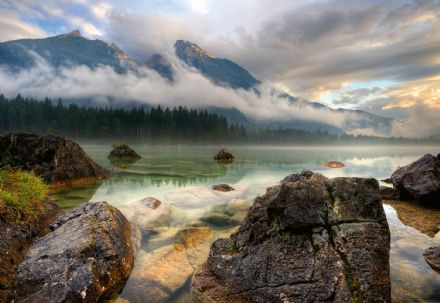 Photo wallpaper Mountain & Lake